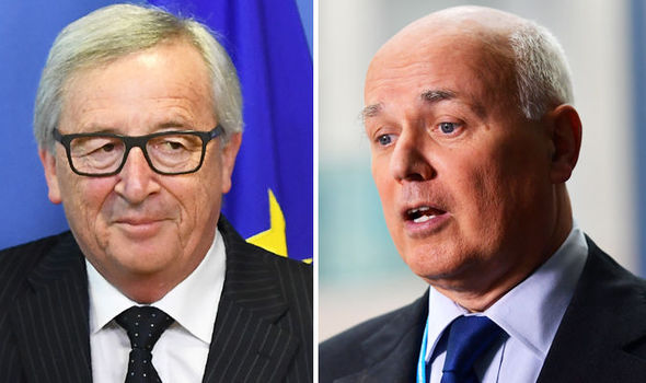 Jean Claude-Juncker and Iain Duncan Smith