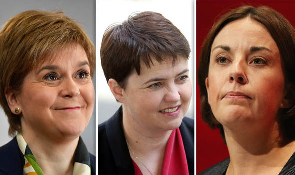 Nicola Sturgeon, Ruth Davidson and Kezia Dugdale