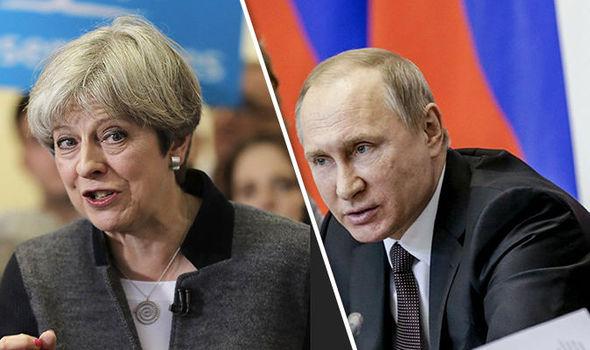 Theresa May Putin Russia aggression