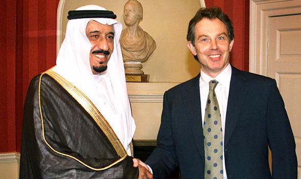 Image result for tony blair + saudi