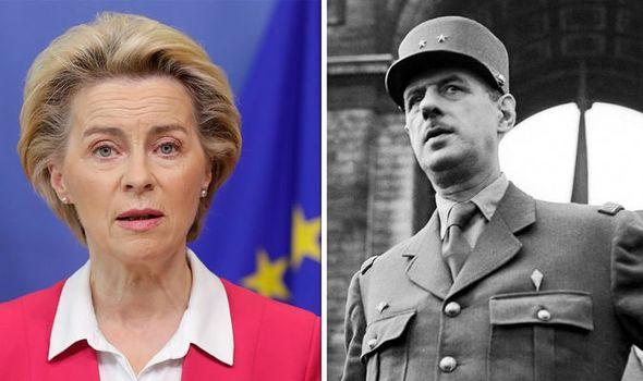 Ursula von der Leyen and Charles de Gaulle