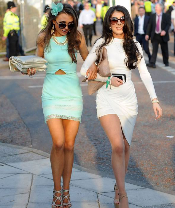 Dressed in their best, racegoers at Aintree didn't shy away from the spotlight