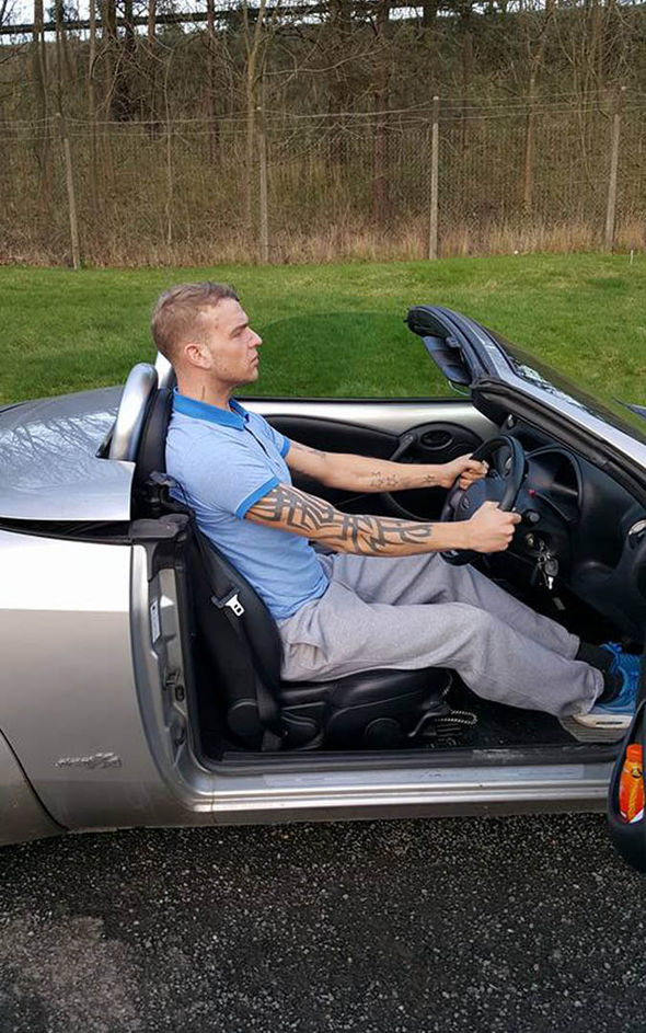Mr Elliott in his car