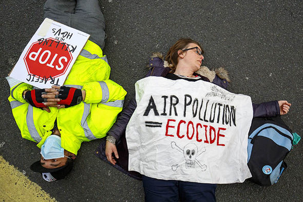 Air pollution protesters