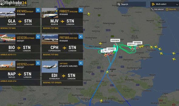 Air traffic tracker FlightRadar24 tweeted to confirm some planes were unable to land