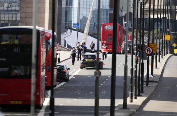 Ambulance and police survey London Bridge attack