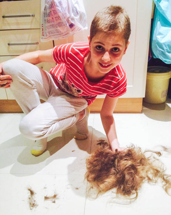 Anna Bedocs cuts her hair off