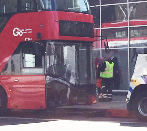 Asda bus crash woman injure hospital