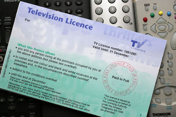TV license card
