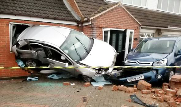 Pensioner enjoys miracle escape after car SMASHES through ...