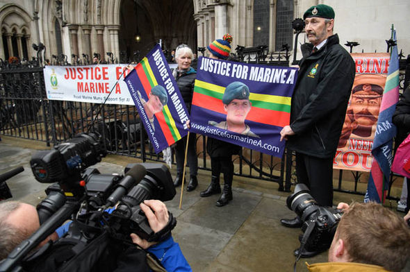 Supporters of Sgt Blackman