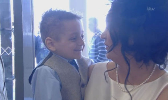 Bradley attended the event with his mother, the day after finding out his final treatment had failed