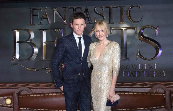 Eddie Redmayne and J K Rowling