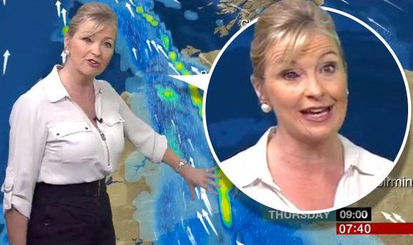 BBC Breakfast weather girl Carol Kirkwood thanks viewers ...