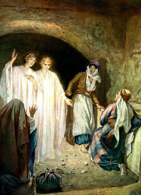 Painting showing Christ's body has disappeared from the tomb
