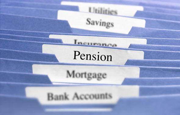 Pension folder
