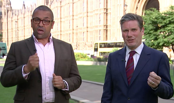 James Cleverly and Keir Starmer