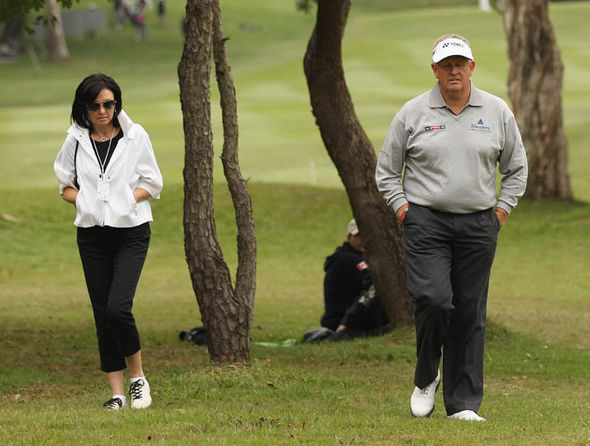 Colin Montgomerie and his ex-wife Gaynor