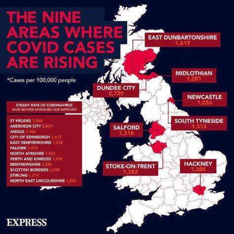 Coronavirus cases rising