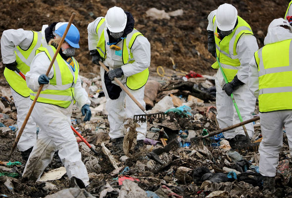 The team will search around 920 square metres of the dump at Milton