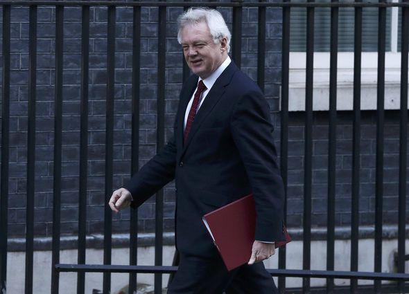 David Davis entering No 10 Downing Street