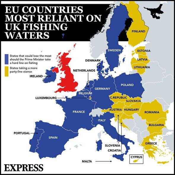 EU countries fishing UK