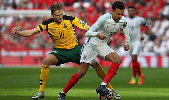 England and Lithuania football players