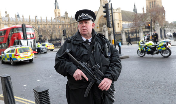 Police at Parliament