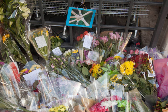 Friends and family flocked to pay tributes to Sam at the scene where he died in Worcester