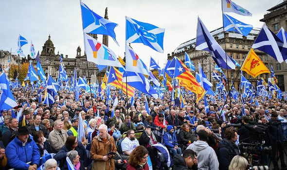 A rally for Indyref2 back in 2019 indicated growing support for another public vote on leaving the Union