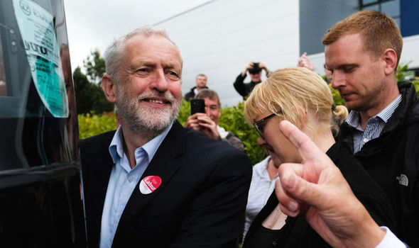 Labour leader Jeremy Corbyn at campaign rally