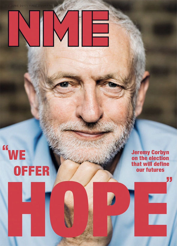 Corbyn on front page of NME