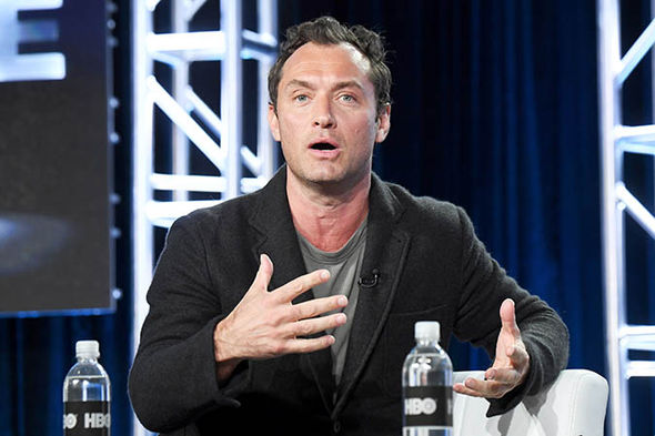 Jude Law speaking