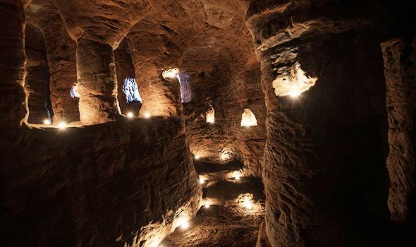 Knights Templar cave Shropshire