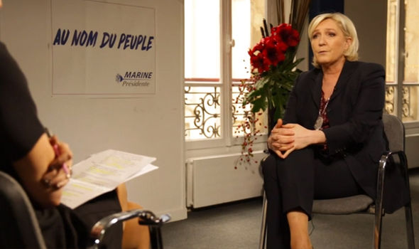 Le Pen spoke to Emily Maitlis with just weeks to go until the first round of the French election