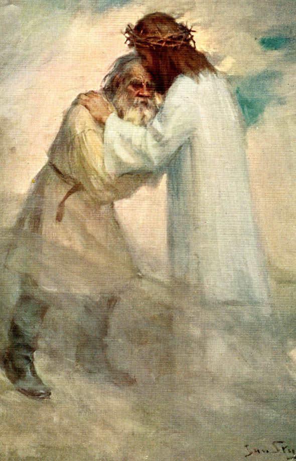 Painting by Leo Tolstoy of the resurrection