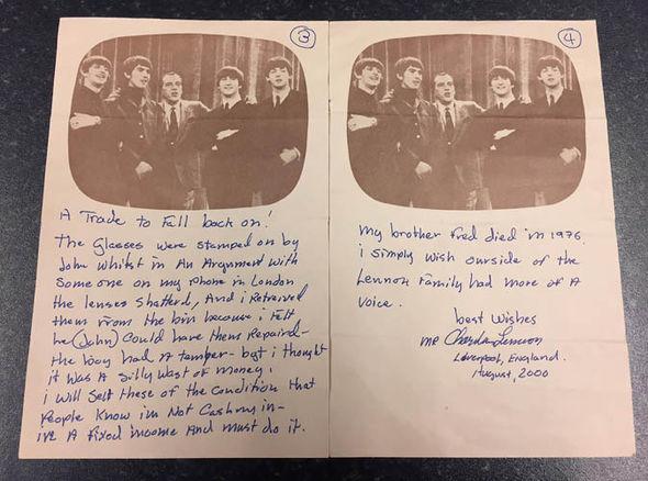 Letter from Charlie Lennon