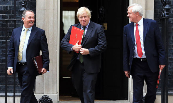 Liam Fox, Boris Johnson and David Davis