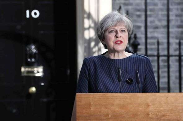 The Prime Minister made her announcement outside Downing Street