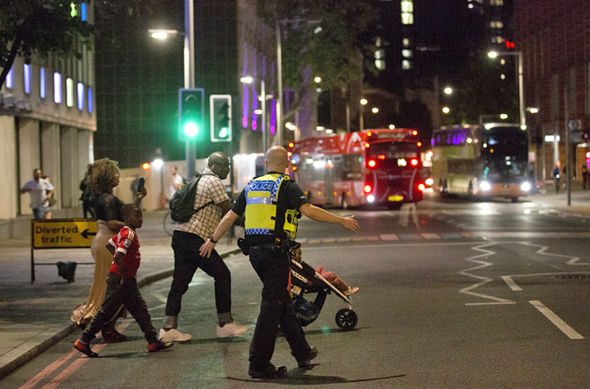 London Bridge terror attack Police clear the area