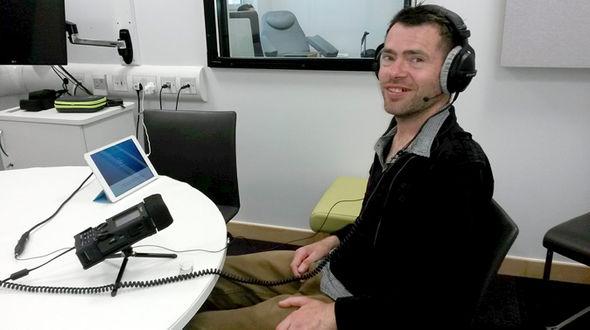 Jason recording his own voice