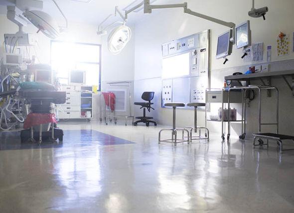 Empty operating theatre