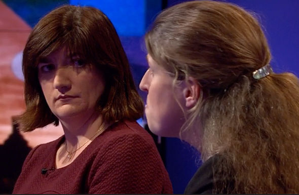 Nicky Morgan was extremely quiet