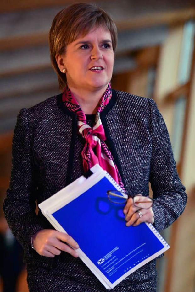 Nicola Sturgeon clutching her brexit plan