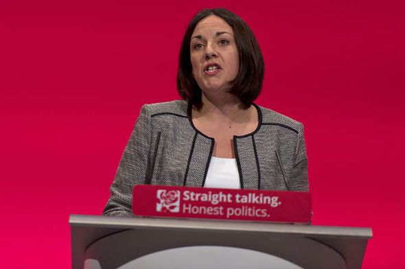 Kezia Dugdale making a speech