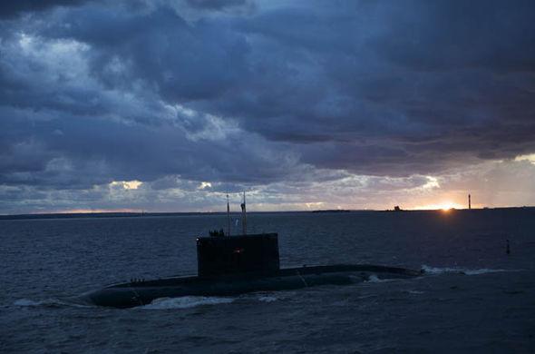 A nuclear submarine