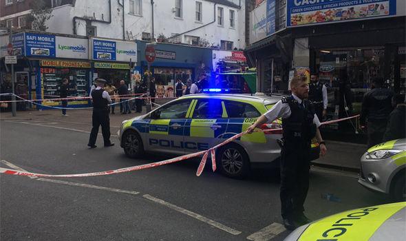 Police scene in Peckham