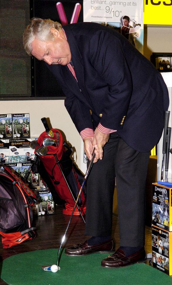 Peter Alliss playing golf