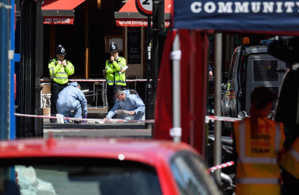 Police investigating scene after terror attack