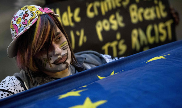 Anti-Brexit demonstrator